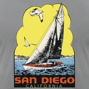 Retro Vintage Throwback San Diego California SoCal T-Shirts - Men's T-Shirt by American Apparel