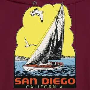 Retro Vintage Throwback San Diego California SoCal Hoodies - Men's Hoodie