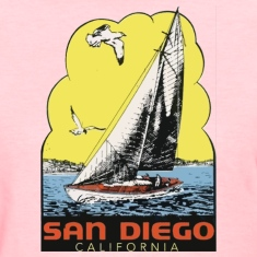 Retro Vintage Throwback San Diego California SoCal Women's T-Shirts