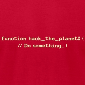 Hackers: Hack The Planet (Front) T-Shirts - Men's T-Shirt by American Apparel