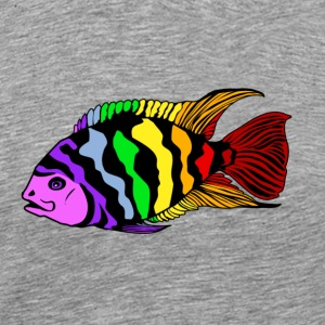 Rainbow Cichlid - Men's Premium T-Shirt