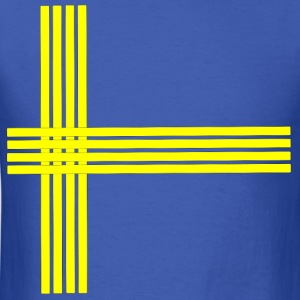 Swedish flag-lined - Men's T-Shirt