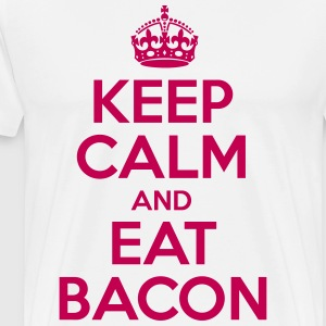 Keep Calm and Eat Bacon - Men's Premium T-Shirt