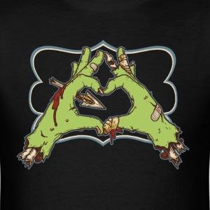Zombie Love Heart T-Shirts - Men's T-Shirt