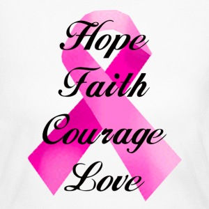 Pink Ribbon Faith Shirt - Women's Long Sleeve Jersey T-Shirt
