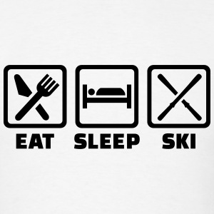 Eat Sleep Ski T-Shirts - Men's T-Shirt