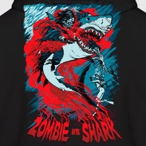 Shark Vs Zombie Hoodies - Men's Hoodie