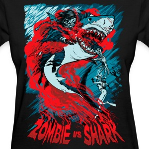 Shark Vs Zombie Women's T-Shirts - Women's T-Shirt