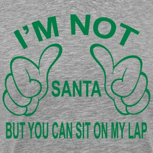 I'm not Santa but you can still sit on my lap... T-Shirts - Men's Premium T-Shirt
