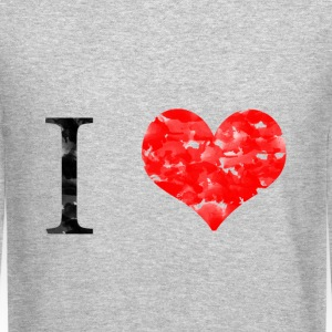 I love Long Sleeve Shirts - Crewneck Sweatshirt