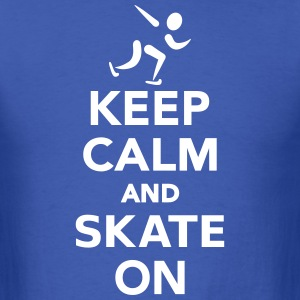 Keep calm and Skate on T-Shirts - Men's T-Shirt