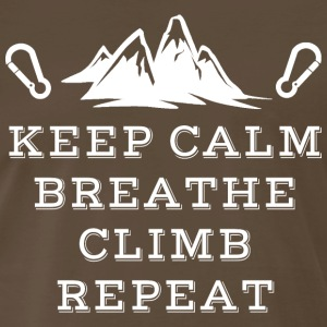Rock Climbing Keep Calm Breathe - Men's Premium T-Shirt
