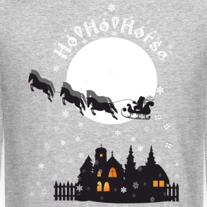 Santa - HoHo!Horse! Long Sleeve Shirts - Crewneck Sweatshirt