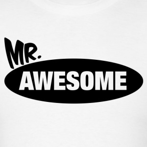 Mr. Awesome & Mrs. Awesome Couples Design T-Shirts - Men's T-Shirt