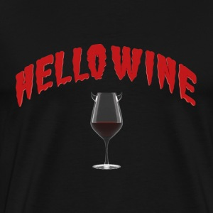 Hello Wine - A Halloween Treat T-Shirts - Men's Premium T-Shirt