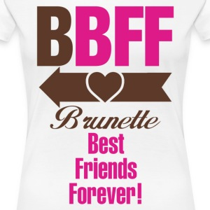 Blonde & Brunette Best Friends Forever Couples Women's T-Shirts - Women's Premium T-Shirt