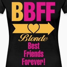 Blonde & Brunette Best Friends Forever Couples Women's T-Shirts