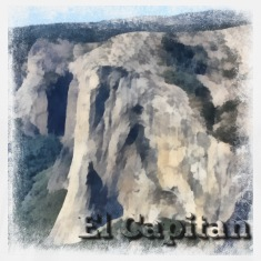 Rock Climbing El Capitan Yosemite Painting