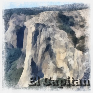 Rock Climbing El Capitan Yosemite Painting - Men's Premium T-Shirt