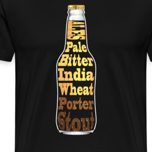 T-Shirt featuring Ales - Pale, bitter, India, Whea - Men's Premium T-Shirt