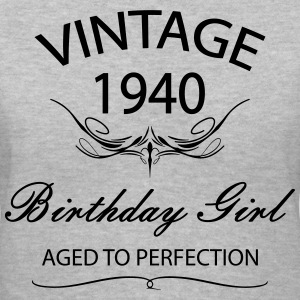 Vintage 1940 Birthday Girl Afed to  Perfection Women's T-Shirts - Women's V-Neck T-Shirt