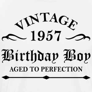 Vintage 1957 Birthday Boy Aged To Perfection T-Shirts - Men's Premium T-Shirt