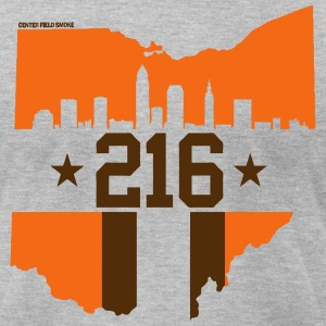 Cleveland 216 T-Shirts - Men's T-Shirt by American Apparel