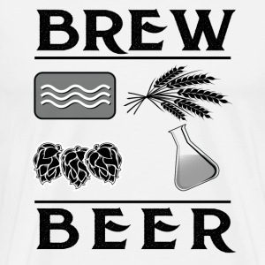 Brewing Beer water, hops, barley, yeast T-Shirt - Men's Premium T-Shirt