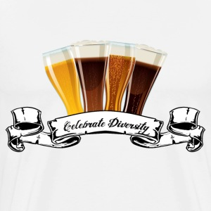 Celebrate Diversity (in beer) T-shirt - Men's Premium T-Shirt