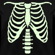 Design ~ womens glow ribcage skeleton tee
