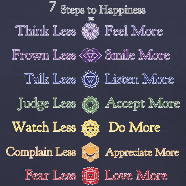 7 Steps to Happiness V-Neck
