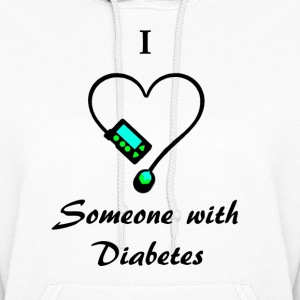 I Love Someone With Diabetes - M - B/G Hoodies - Women's Hoodie