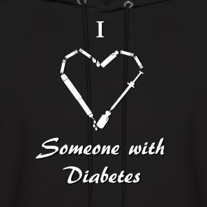 I Love Someone With Diabetes - Needle - White Hoodies - Men's Hoodie