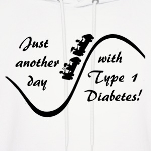 Just Another Day With Type Diabetes - Black  Hoodies - Men's Hoodie