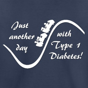 Just Another Day With Type 1 Diabetes - White Kids' Shirts - Kids' Premium T-Shirt