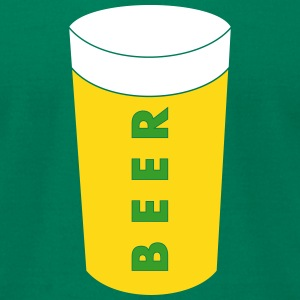 beer_vec_3 us T-Shirts - Men's T-Shirt by American Apparel