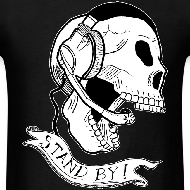 "Guys ""Stand By"" Skull Tee"