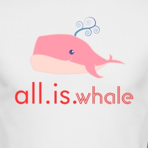 All is whale (Pink, Men) - Men's Long Sleeve T-Shirt by Next Level
