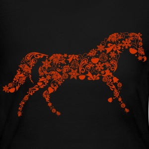 Christmas Horse Long Sleeve Shirts - Women's Long Sleeve Jersey T-Shirt