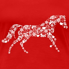Christmas Horse Women's T-Shirts