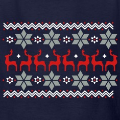Poinsettia pattern and reindeer pattern  Kids' Shirts