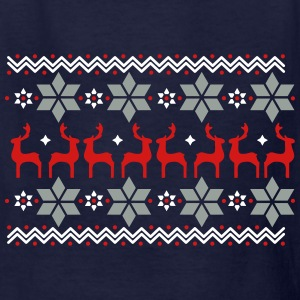 Poinsettia pattern and reindeer pattern  Kids' Shirts - Kids' T-Shirt