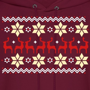 Poinsettia pattern and reindeer pattern  Hoodies - Men's Hoodie