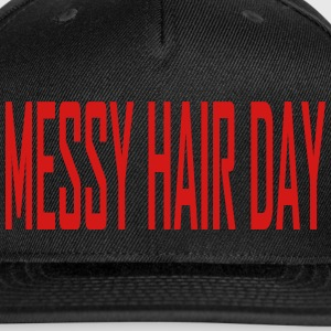 messy_hair_day Caps - Snap-back Baseball Cap