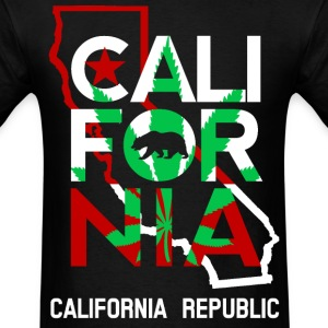 California Outline Weed Overlay - Men's T-Shirt