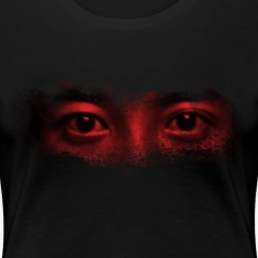 red misterious eye face