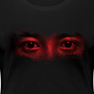 red misterious eye face - Women's Premium T-Shirt