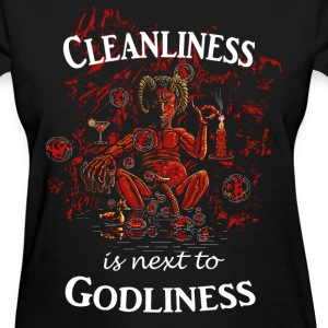 Satan / Devil - Cleanliness is next to Godliness Women's T-Shirts - Women's T-Shirt