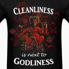 Satan / Devil - Cleanliness is next to Godliness T-Shirts
