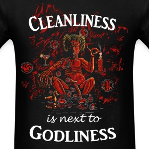 Satan / Devil - Cleanliness is next to Godliness T-Shirts - Men's T-Shirt